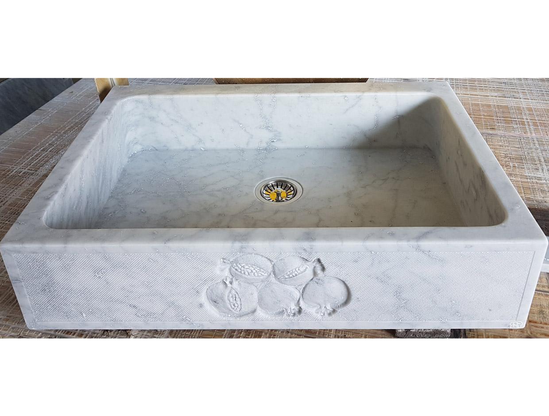 lavello in marmo di carrara per sito